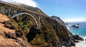 the Pacific Coast Highway with views of the ocean