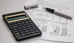 calculator and billing statement
